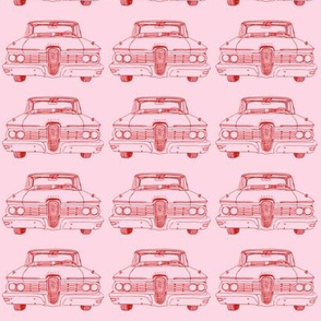 1959 Edsel Ranger or Corsair red on pink