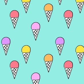 ice- cream on  blue