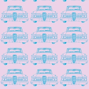 1959 Edsel Ranger or Corsair blue on pink