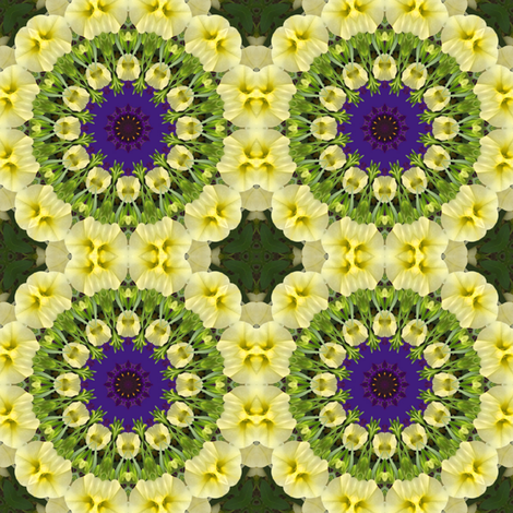 Yellow Petunia Pinwheels 0958 fabric by falcon11 on Spoonflower - custom fabric