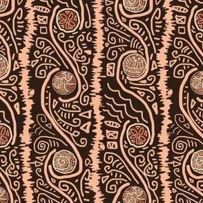 tribal style swirls