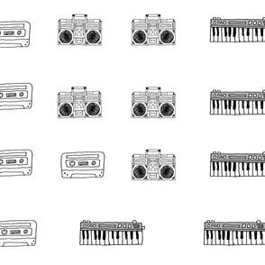 keyboard plush fabric