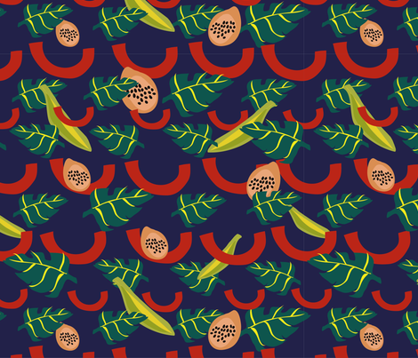 a smooth, brazilian night fabric by can_as_pen_design on Spoonflower - custom fabric