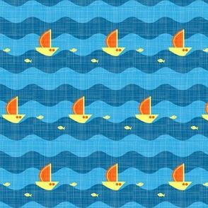 little sailing ship turquoise
