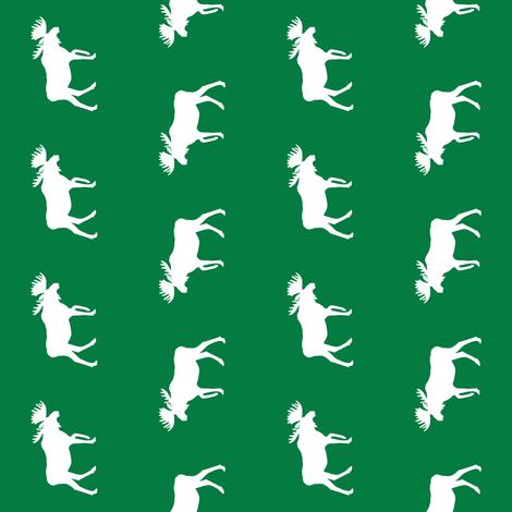 moose fabric baby nursery canada moose hunting hunter woodland green fabric by charlottewinter on Spoonflower - custom fabric