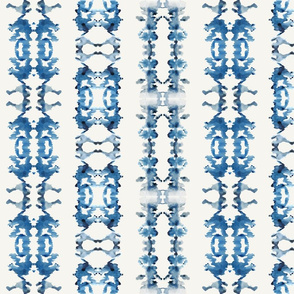 Small Rorschach Stripe- Indigo Blues