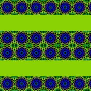 blue lime green petals