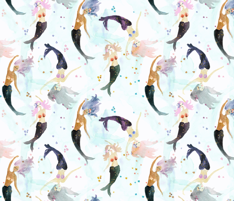mermaids fabric by crystal_walen on Spoonflower - custom fabric