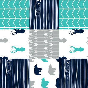 Woodland patchwork blanket || surfer's cove collection (90)