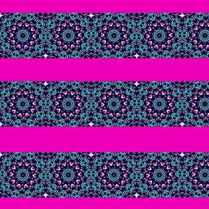 pink blue white circles