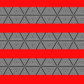 black white stripe red