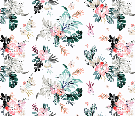 Layla flower fabric by crystal_walen on Spoonflower - custom fabric