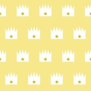 Little Gold Star Crown Solid Yellow