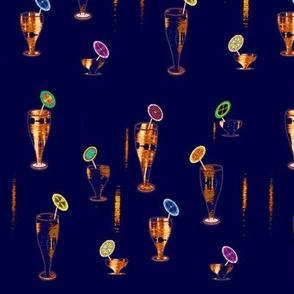 Midnight drinks & paper umbrellas