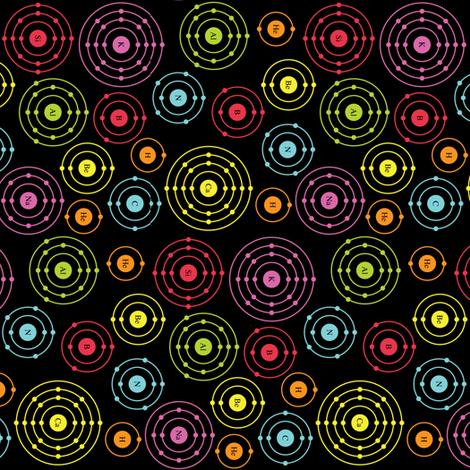 Periodic Shells (Dark Ditsy Rotated) fabric by robyriker on Spoonflower - custom fabric