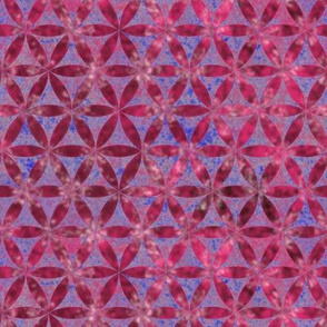 Batik Inspired Interlocked Circles in Pink and Blue