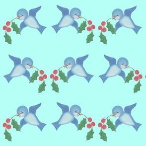 Birds on Aqua