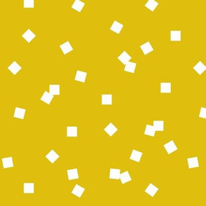 Tiny squares -corn  yellow  scaterred squares lemon