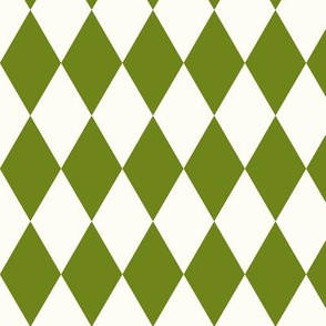 Harlequin diamonds - lime green squares