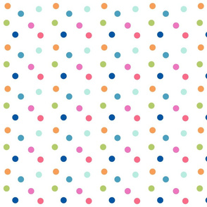 polka dots 420 - tropical on white