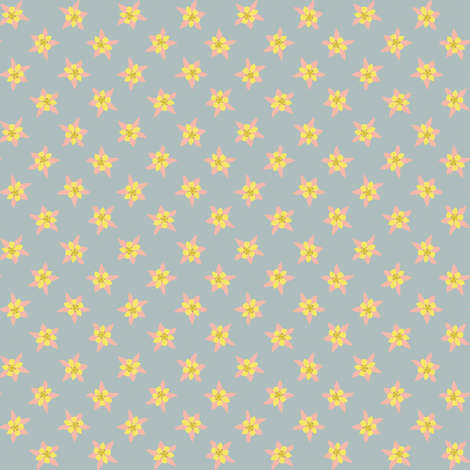 Columbines Dotted fabric by anniecdesigns on Spoonflower - custom fabric