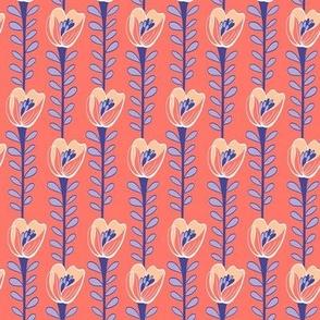 Floriade  Coral & Blue
