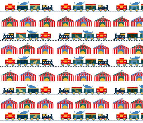 retro_circus_train_1 fabric by leroyj on Spoonflower - custom fabric