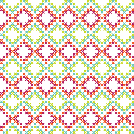 Bright Cross-Stitch Squares fabric by anniecdesigns on Spoonflower - custom fabric
