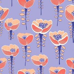 Poppy Field Mauve & Coral