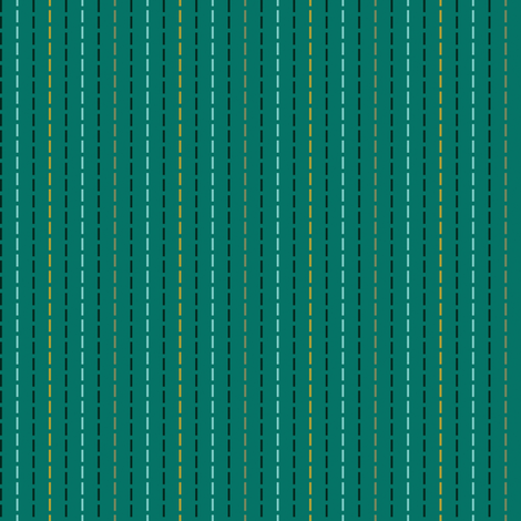 Running Stitch on Teal fabric by anniecdesigns on Spoonflower - custom fabric