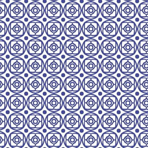 Dutch Lattice Blue & White