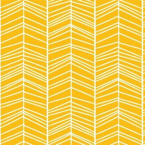 White stripes on mustard