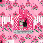 Yorkie Brandy Pink House - Matching