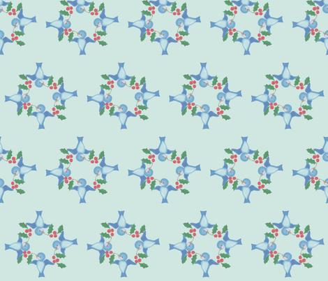 Blue Bird Dance fabric by stitch_crazy on Spoonflower - custom fabric