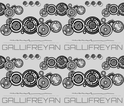 The Gallifreyan fabric by floramoon on Spoonflower - custom fabric