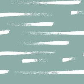White stripes on blue