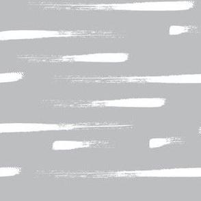 White Stripes on gray