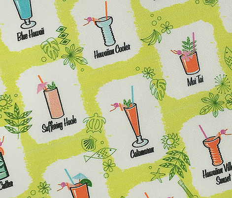 hau'oli hola* (Lime) || Hawaii Hawaiian tiki atomic cocktails midcentury modern bar beverages drinks summer beach flowers palm trees