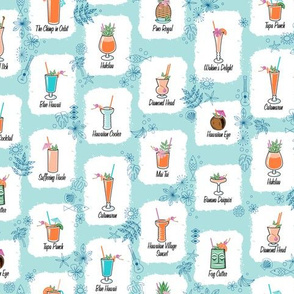 hau'oli hola (Happy Hour) || Hawaii Hawaiian tiki atomic cocktails midcentury modern bar beverages drinks summer beach flowers palm trees