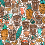 Tiki Cups & Beachy Drinks - Coral