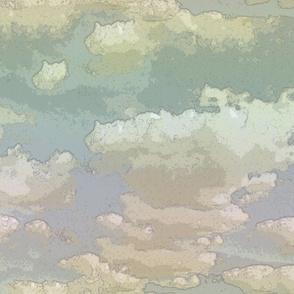 Cartoon Clouds pale