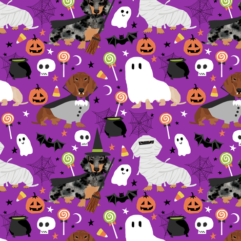 dachshund halloween fabric dog dogs fabric doxie halloween