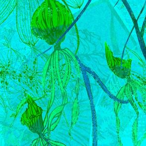 Wild Orchids-turquoise-original-150
