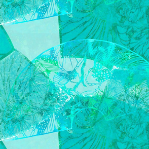 Wild Orchids turquoise background