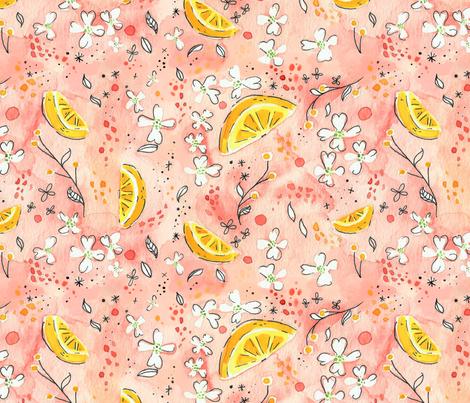 Pink Lemonade fabric by anniedrawsthings on Spoonflower - custom fabric