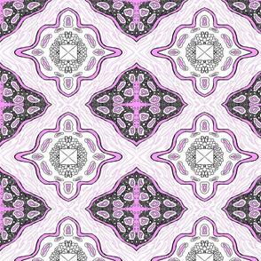Medallion Waves- Lavender