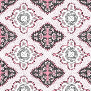 Medallion Waves- Pink