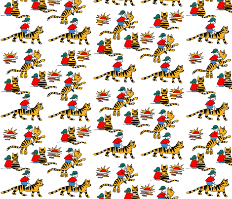 My Friend Tiger fabric by palusalu on Spoonflower - custom fabric