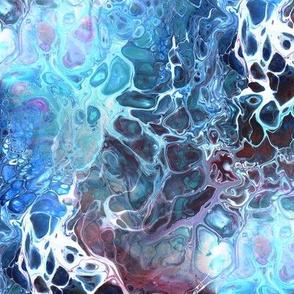 Acrylic pour - blues