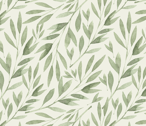 Fresh shoots fabric by lisa-glanz on Spoonflower - custom fabric